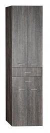 ZOJA/KERAMIA FRESH szafka wysoka, z szufladami 50x184x29 cm, mali wenge