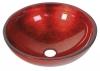 MURANO ROSSO IMPERO, umywalka szklana 40x14cm, czerwona