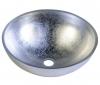 MURANO ARGENTO umywalka szklana okrągła 40x14cm, srebrny