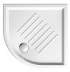 Ceramiczny brodzik prysznicowy, półokrągły 90x90x6cm, R550
