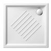 Ceramiczny brodzik prysznicowy, kwadrat 80x80x6cm