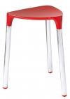 YANNIS taboret łazienkowy, 37x43,5x32,3cm, czerwony