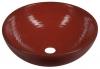 ATTILA umywalka ceramiczna, średnica 44cm, pomidorowa