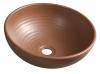 ATTILA umywalka ceramiczna, średnica 44cm, brązowa terakota