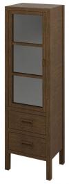 BRAND szafka 2 szuflady, szklane drzwiczki 40x140x30cm, lewa, świerk bejcowany