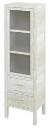 BRAND szafka 2 szuflady, szklane drzwiczki, 40x140x30cm, lewa, starobiała