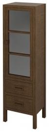 BRAND szafka 2 szuflady, szklane drzwiczki 40x140x30cm, prawa, świerk bejcowany