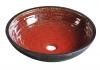 ATTILA umywalka ceramiczna, średnica 44cm, pomidorowo/naftowa