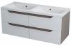 WAVE szafka umywalkowa 120x50x48cm, biała/mali wenge