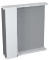 PULSE szafka z lustrem i ośw. LED 2x3W, 75x80x17cm, lewa, biała/antracyt