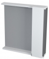 PULSE szafka z lustrem i ośw. LED 2x3W, 75x80x17cm, prawa, biała/antracyt