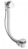 Syfon wannowy z napełnianiem, automatyczny, długość 875mm, korek 72mm, chrom