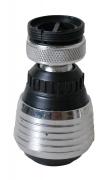 Perlator z przegubem i przełącznikiem, redukcja (F22x1 i M24x1) chrom i plastik