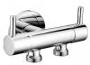 Podwójny zawór do podłączenia prysznica bidetowego oraz WC, chrom