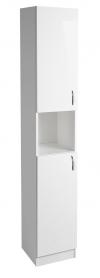 EKOSET szafka wysoka 30x180x30 cm, biała