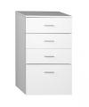 ZOJA/KERAMIA FRESH szafka dolna 50x78x29cm, biała z szufladami