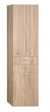 ZOJA/KERAMIA FRESH szafka wysoka z koszem 50x184x29 cm, dąb platin