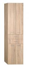 ZOJA/KERAMIA FRESH szafka wysoka z szufladami 50x184x29cm, dąb platin