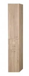 ZOJA/KERAMIA FRESH szafka wysoka z koszem 35x184x29cm, lewa, dąb platin
