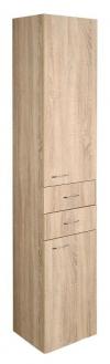 ZOJA/KERAMIA FRESH szafka wysoka 35x184x29cm, dąb platin