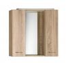 ZOJA/KERAMIA FRESH szafka z lustrem i ośw. LED, 70x60x14cm, dąb platin