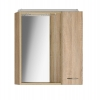 ZOJA/KERAMIA FRESH szafka z lustrem i ośw.LED, 60x60x14cm, prawa, dąb platin