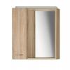 ZOJA/KERAMIA FRESH szafka z lustrem i ośw.LED, 60x60x14cm, lewa, dąb platin