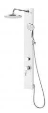 FIGA zestaw prysznicowy z baterią, 125x1050mm, biały