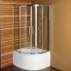 SELMA kabina prysznicowa półokrągła 900x900x1500mm, szkło czyste