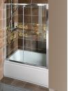 DEEP drzwi prysznicowe 1100x1500mm, szkło czyste