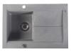 Zlewozmywak granitowy z ociekaczem, 76,5x53,5cm, szary