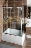Deep prostokątna kabina prysznicowa 1200x750mm wariant L/P,szkło czyste