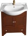 GALANTA TELLUS szafka umywalkowa wraz z umywalką, 60x82x33cm lite drewno