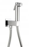 Zawór ścienny z prysznicem bidetowym , kwadratowy, chrom