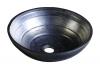 ATTILA umywalka ceramiczna, średnica 46cm, kolor ropy naftowej