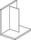 MODULAR SHOWER jednoczęściowa ścianka do montażu do ściany, 900 mm