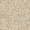 ZEN Travertino Glass mosaic 25x25 mm (plato 31,2x49,5) (bal.= 2,00m2)
