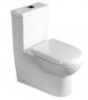 TALIN WC kompakt WC ze spłuczką z WC deską, uniwersalny