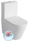 PACO RIMLESS kompakt WC ze spłuczką z deską Soft Close, uniwersalny