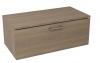 MAKALA schowek z pokrywą 89,5x35x45,2 cm, orzech bruno
