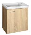 ZOJA/KERAMIA FRESH szafka umywalkowa 44x50x23,5cm, dąb platin