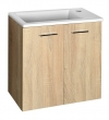 ZOJA/KERAMIA FRESH szafka umywalkowa 49x50x23,5cm, dąb platin