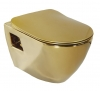 PAULA WC wiszące 35,5x50cm, złoto (TP325.00010)