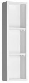 ZOJA szafka wisząca do lustra, 20x70x12cm, lewa, biała