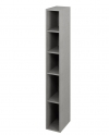 ESPACE regał 20x172x32cm, dąb srebrny