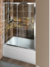DEEP drzwi prysznicowe 1400x1500mmmm, szkło czyste