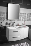 Zestaw JULIE 105, szafka umywalkowa, lewa, biała