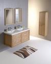 Zestaw LARITA 125, szafka umywalkowa, umywalka podwójna, dąb natural