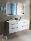Zestaw THEIA 120, szafka umywalkowa, umywalka podwójna, biały