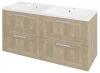 AMIA szafka umywalkowa 119x60x45cm, dąb Texas